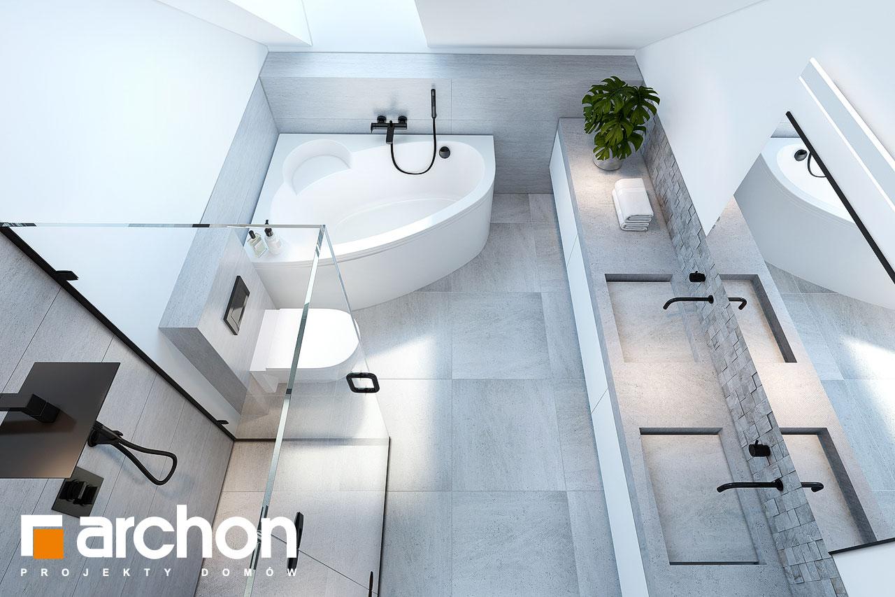 Проект будинку ARCHON+ Будинок у гвоздиках візуалізація ванни (візуалізація 3 від 4)