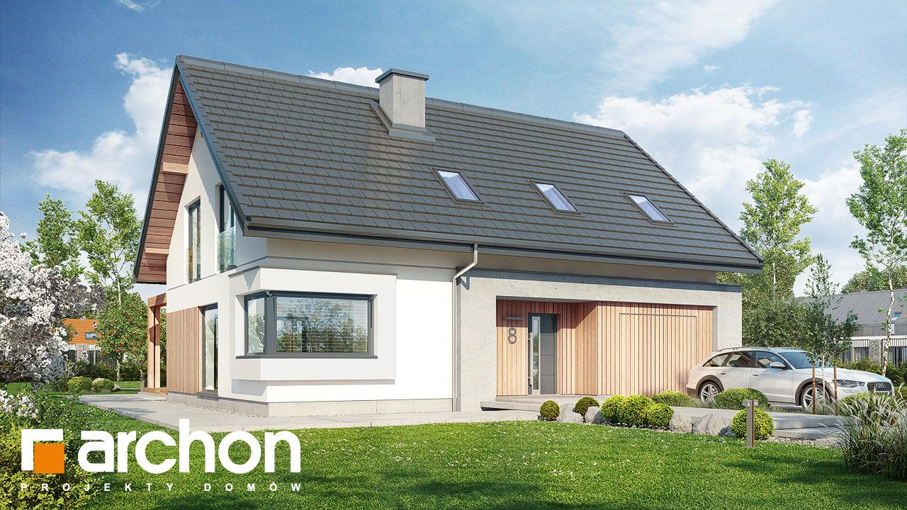 Проект будинку ARCHON+ Будинок у гвоздиках стилізація 3