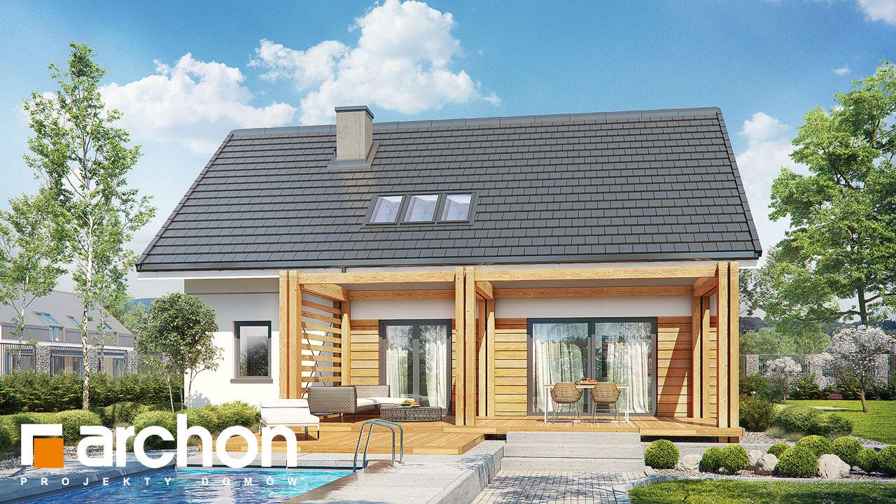 Проект будинку ARCHON+ Будинок у гвоздиках Вид 2