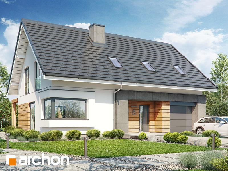 Проект будинку ARCHON+ Будинок у гвоздиках Вид 1