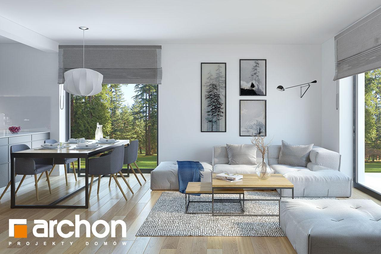 Проект будинку ARCHON+ Будинок у гвоздиках денна зона (візуалізація 1 від 1)