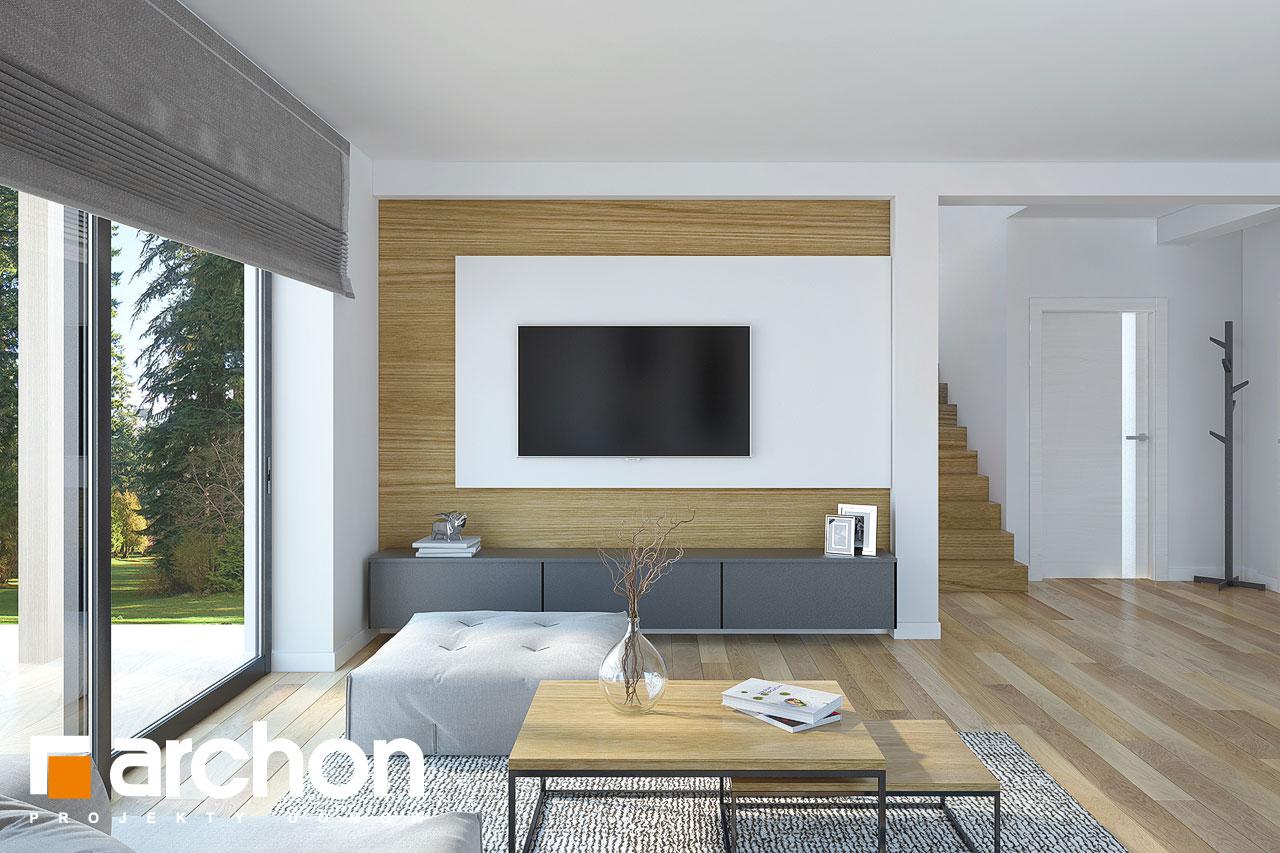 Проект будинку ARCHON+ Будинок у гвоздиках денна зона (візуалізація 1 від 2)