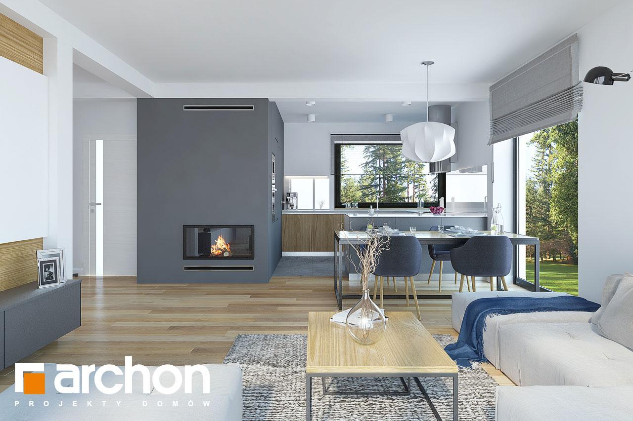 Проект будинку ARCHON+ Будинок у гвоздиках денна зона (візуалізація 1 від 3)