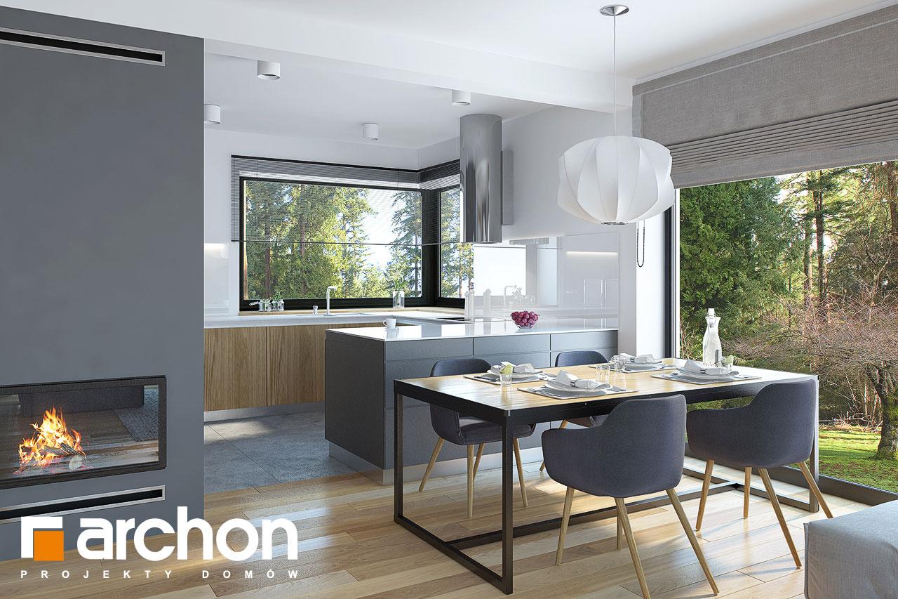 Проект будинку ARCHON+ Будинок у гвоздиках денна зона (візуалізація 1 від 4)