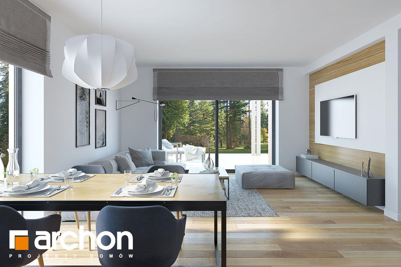 Проект будинку ARCHON+ Будинок у гвоздиках денна зона (візуалізація 1 від 6)