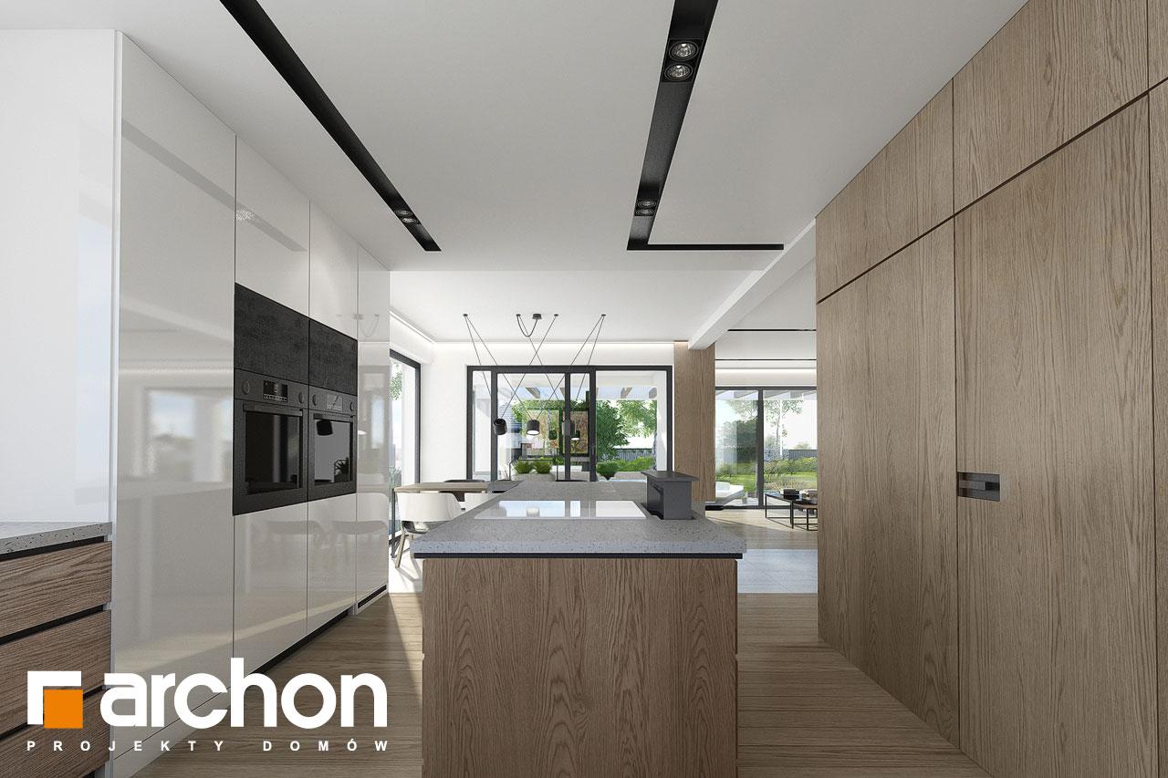 Проект дома ARCHON+ Дом в подснежниках 3 визуализация кухни 1 вид 2