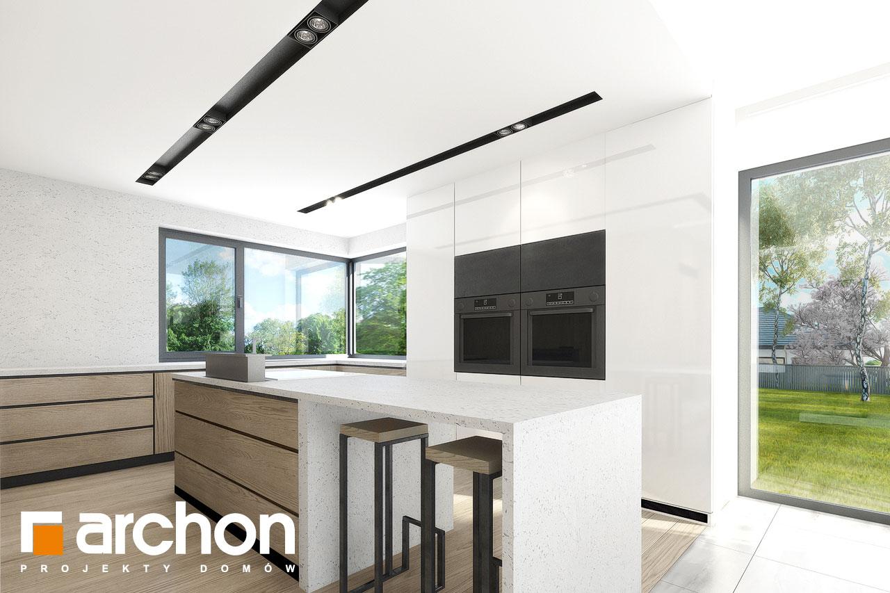 Проект дома ARCHON+ Дом в подснежниках 3 визуализация кухни 1 вид 1