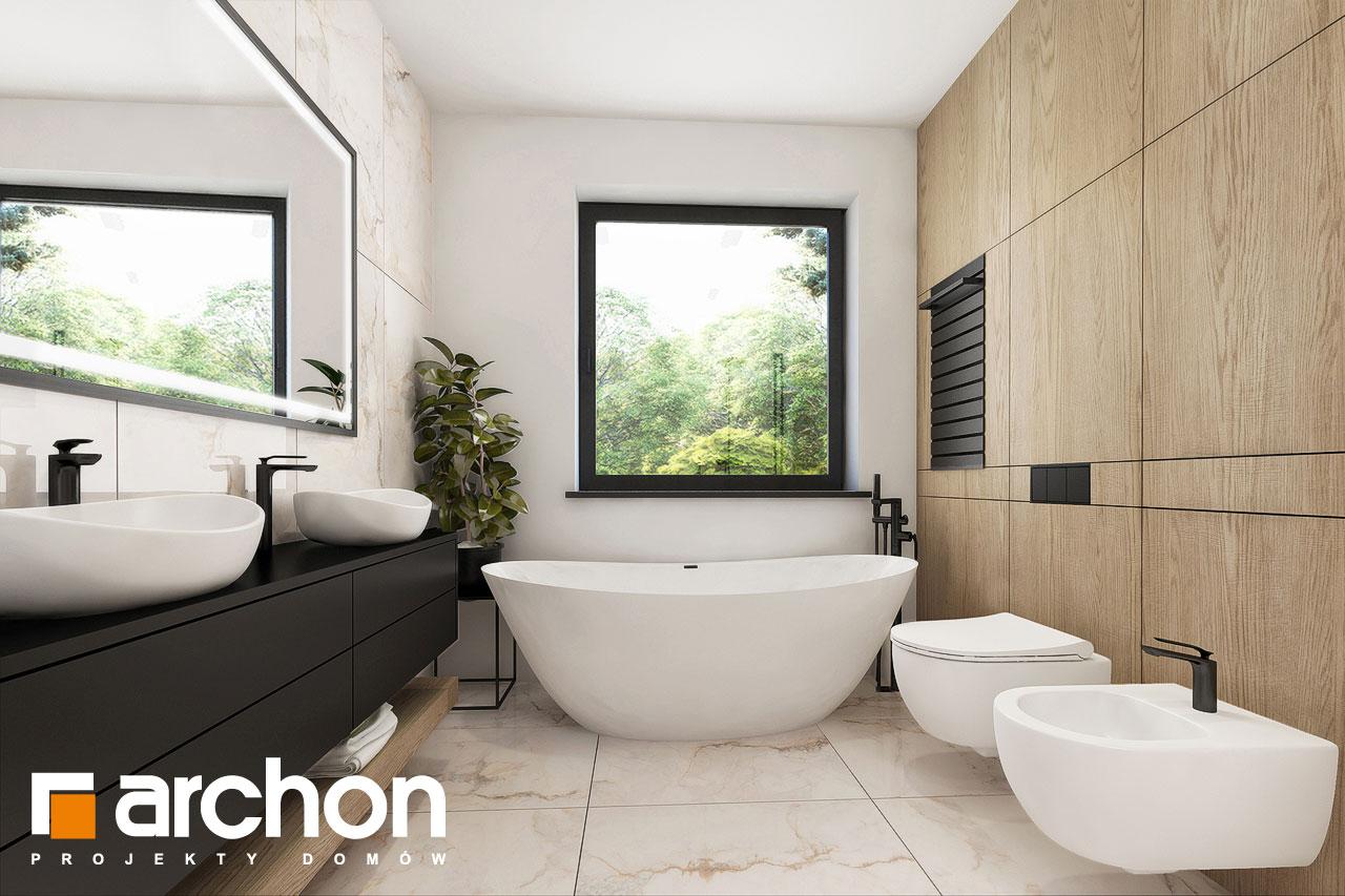 Проект будинку ARCHON+ Будинок в підсніжниках 3 візуалізація ванни (візуалізація 3 від 1)