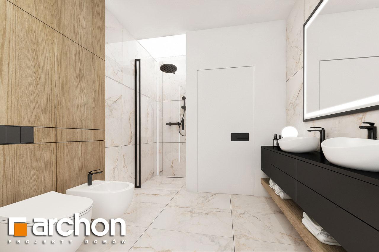Проект будинку ARCHON+ Будинок в підсніжниках 3 візуалізація ванни (візуалізація 3 від 2)