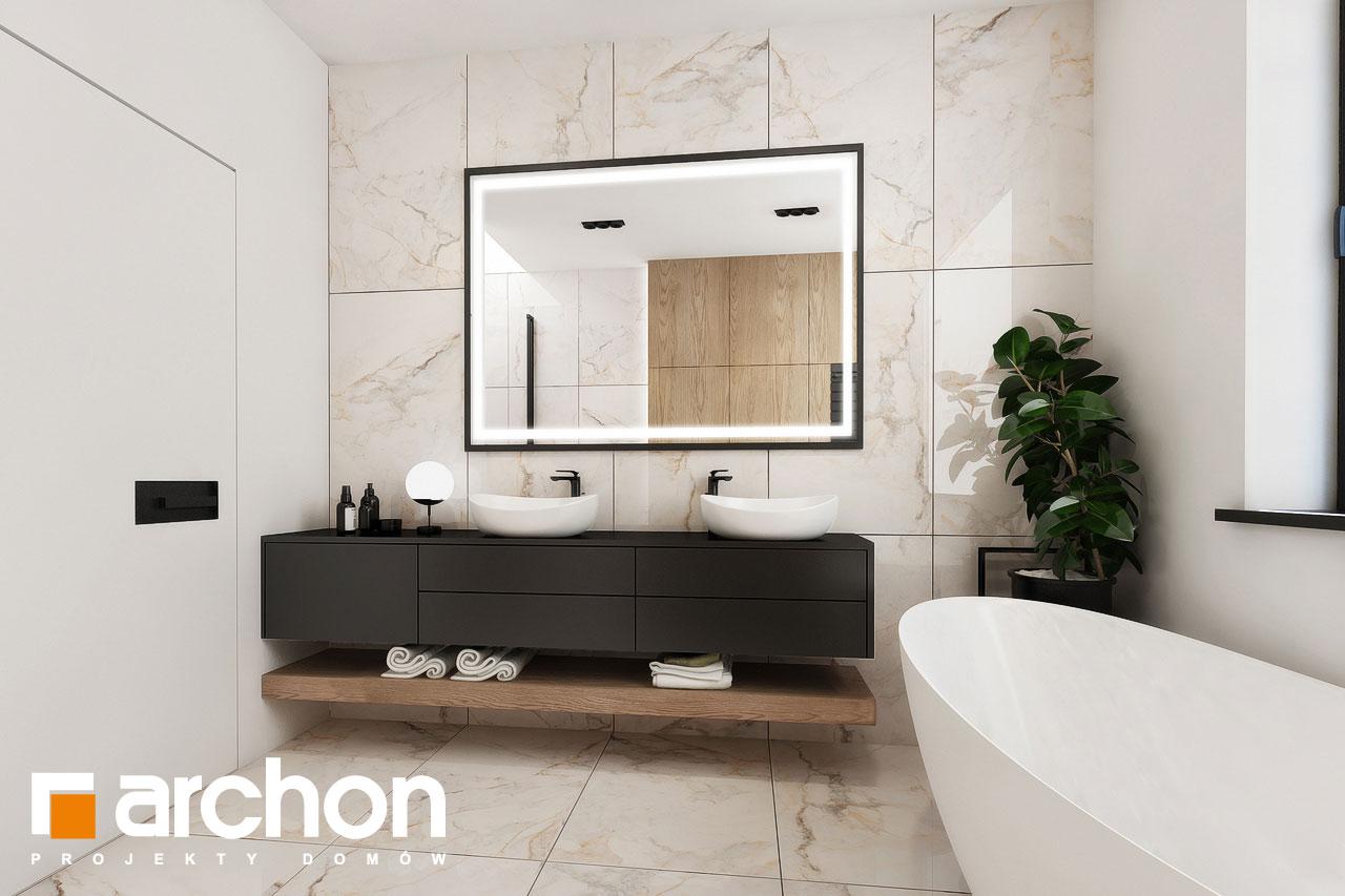 Проект будинку ARCHON+ Будинок в підсніжниках 3 візуалізація ванни (візуалізація 3 від 3)