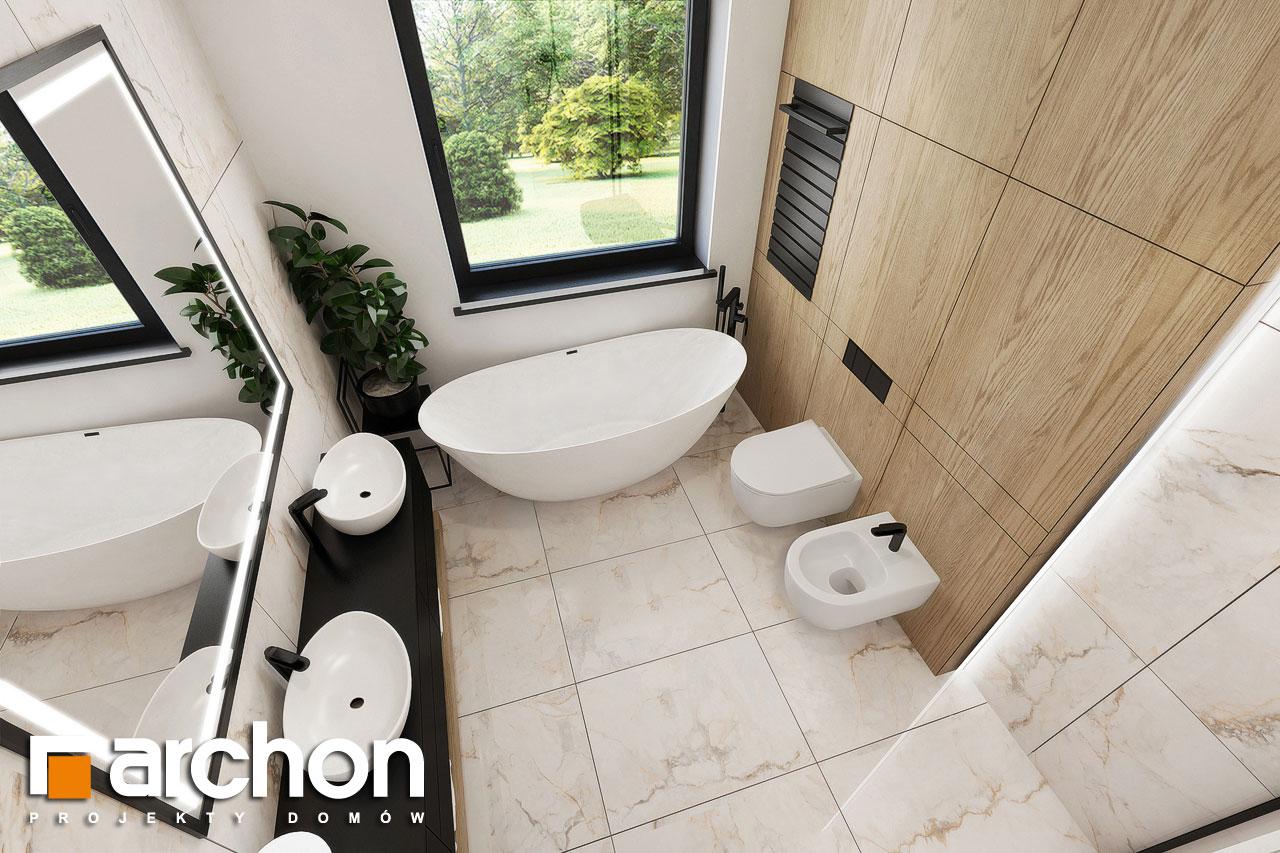 Проект будинку ARCHON+ Будинок в підсніжниках 3 візуалізація ванни (візуалізація 3 від 4)