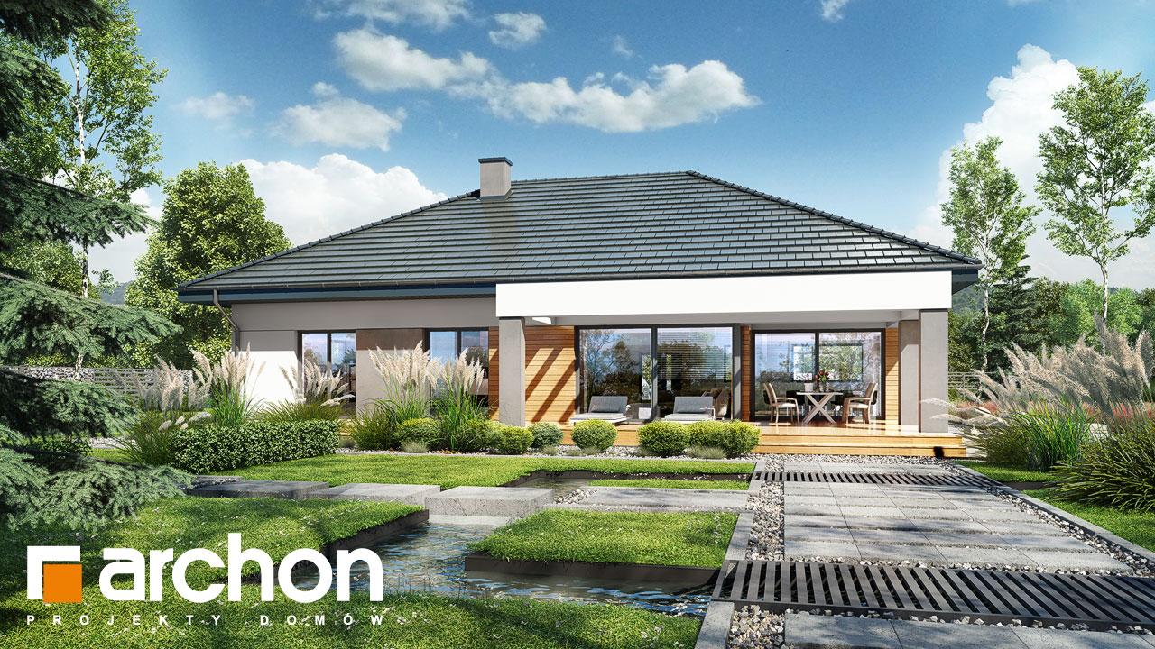 Проект будинку ARCHON+ Будинок в підсніжниках 3 Вид 2