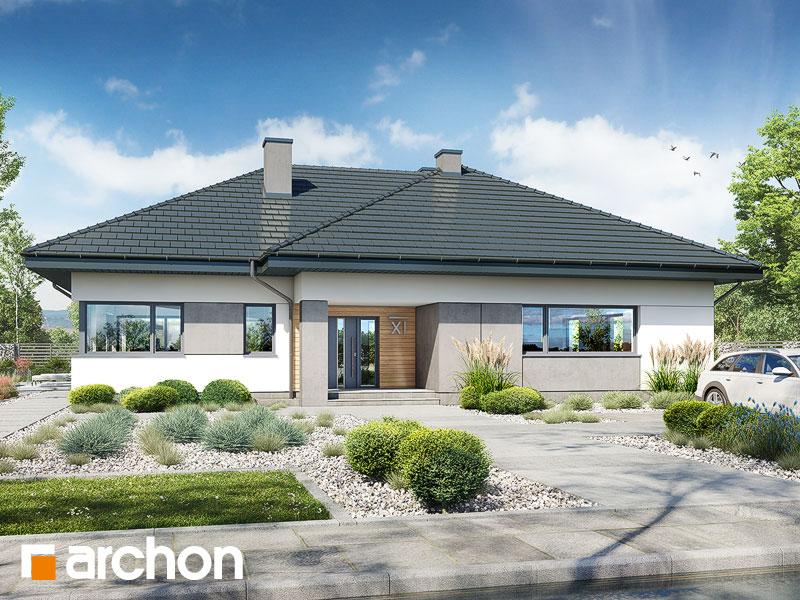 Проект дома ARCHON+ Дом в подснежниках 3 Вид 1