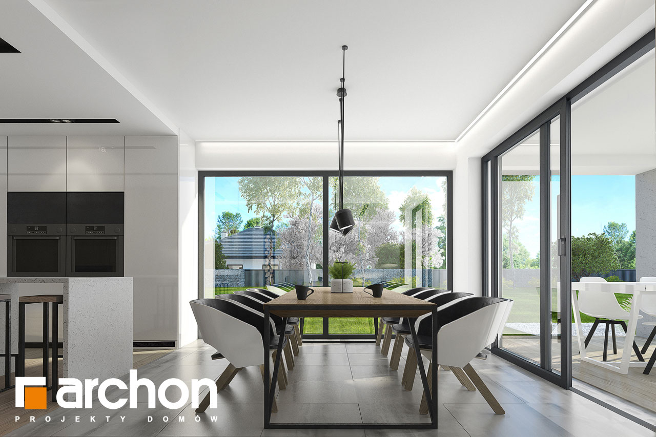 Проект будинку ARCHON+ Будинок в підсніжниках 3 денна зона (візуалізація 1 від 3)