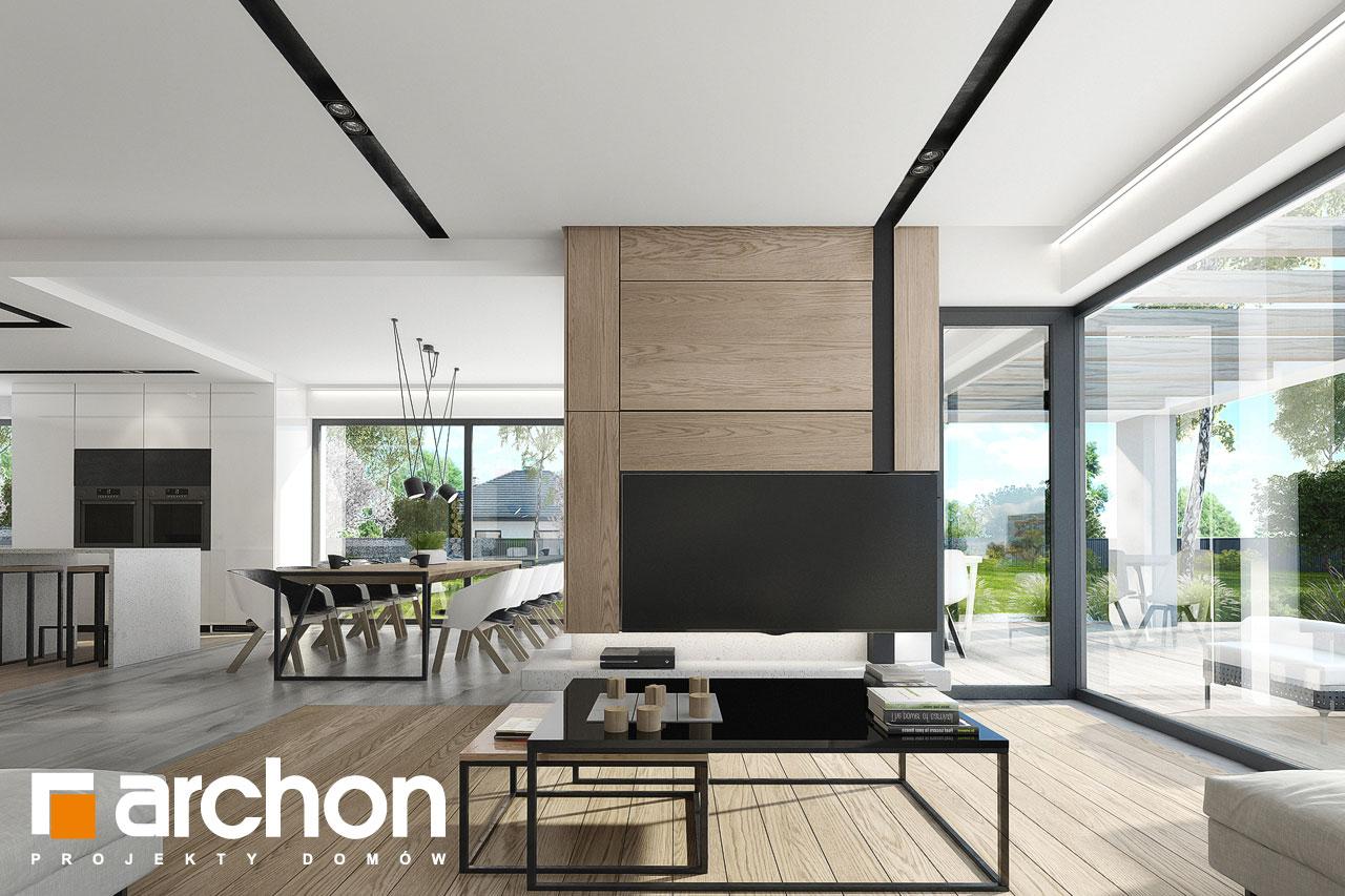 Проект дома ARCHON+ Дом в подснежниках 3 дневная зона (визуализация 1 вид 1)