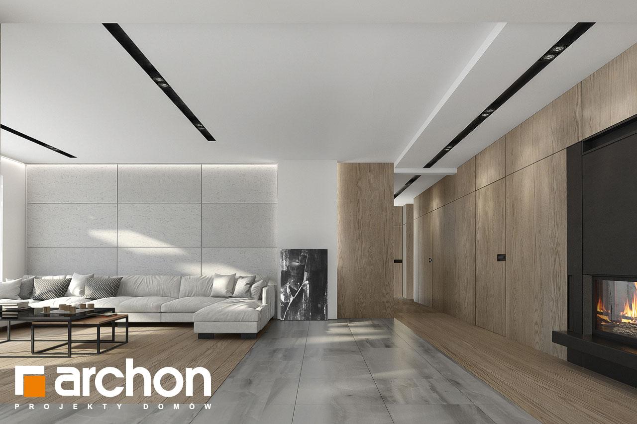 Проект дома ARCHON+ Дом в подснежниках 3 дневная зона (визуализация 1 вид 5)