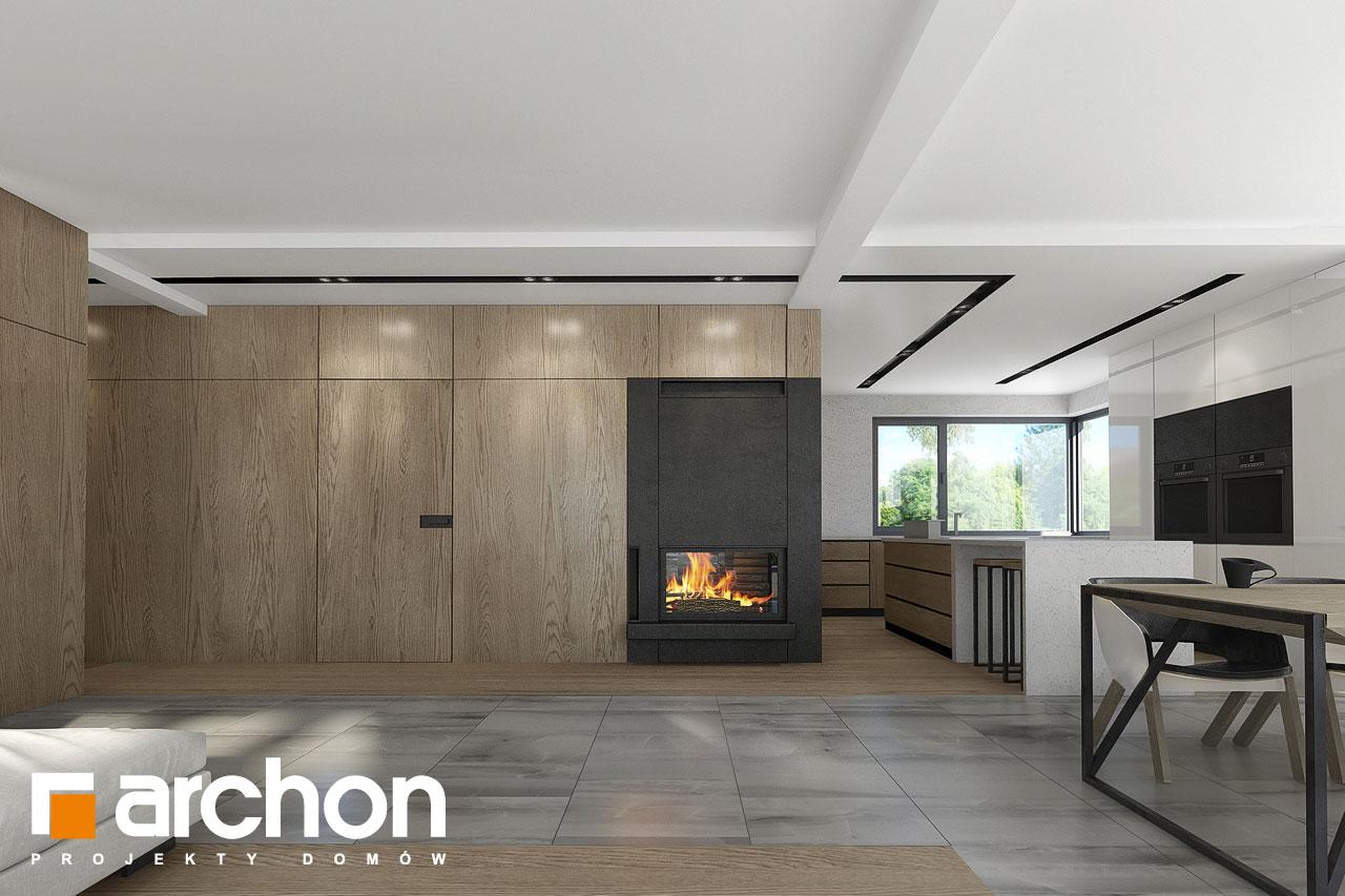 Проект дома ARCHON+ Дом в подснежниках 3 дневная зона (визуализация 1 вид 2)