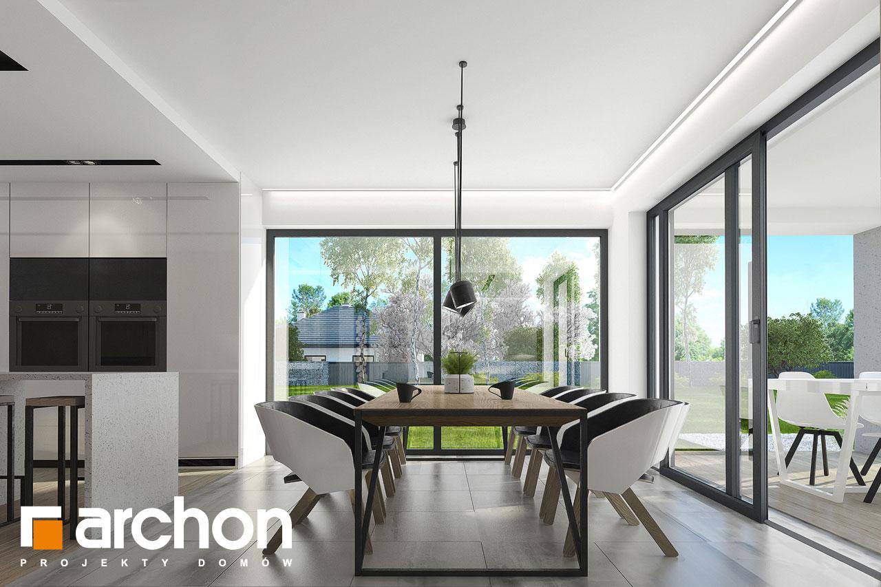 Проект дома ARCHON+ Дом в подснежниках 3 дневная зона (визуализация 1 вид 3)