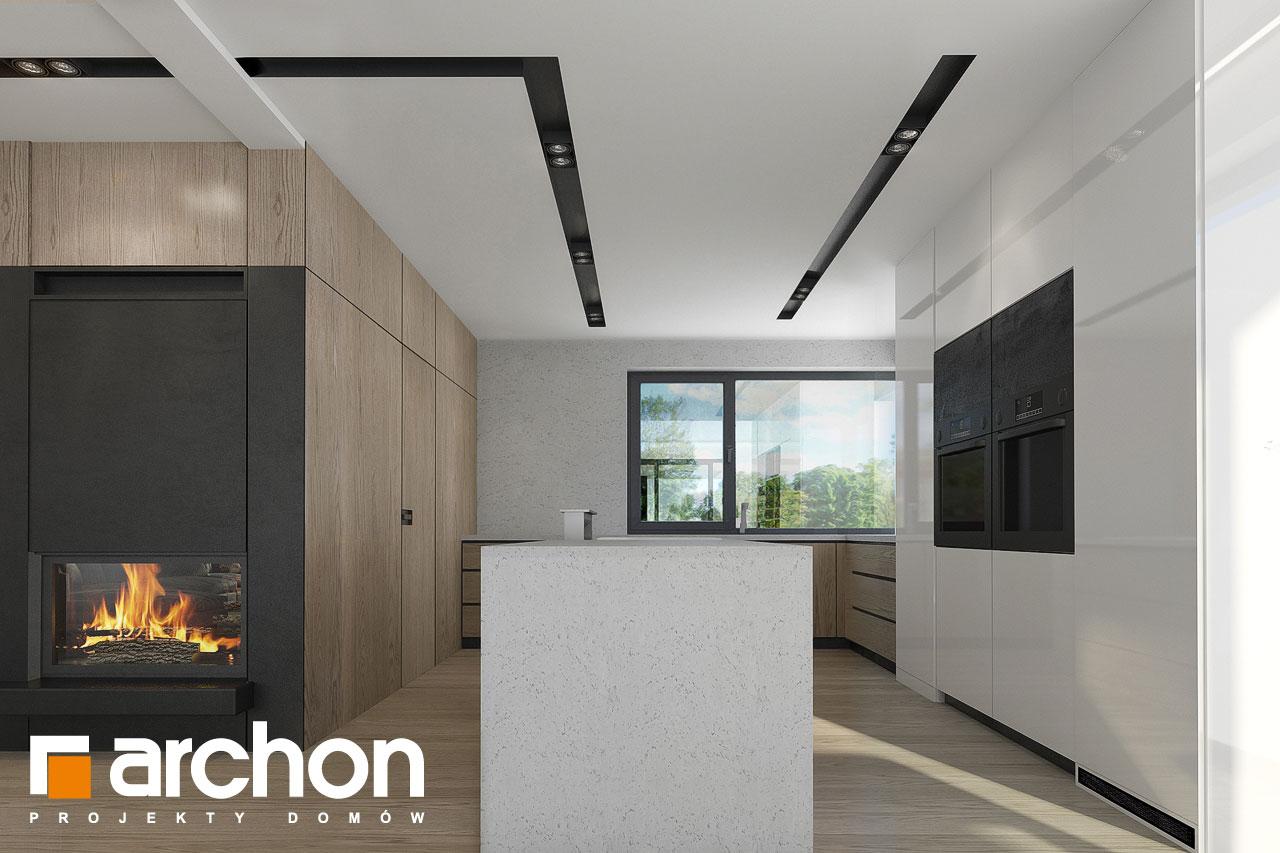 Проект дома ARCHON+ Дом в подснежниках 3 дневная зона (визуализация 1 вид 4)