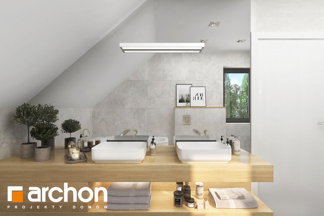 Проект будинку ARCHON+ Будинок в малинівці 14 візуалізація ванни (візуалізація 3 від 1)