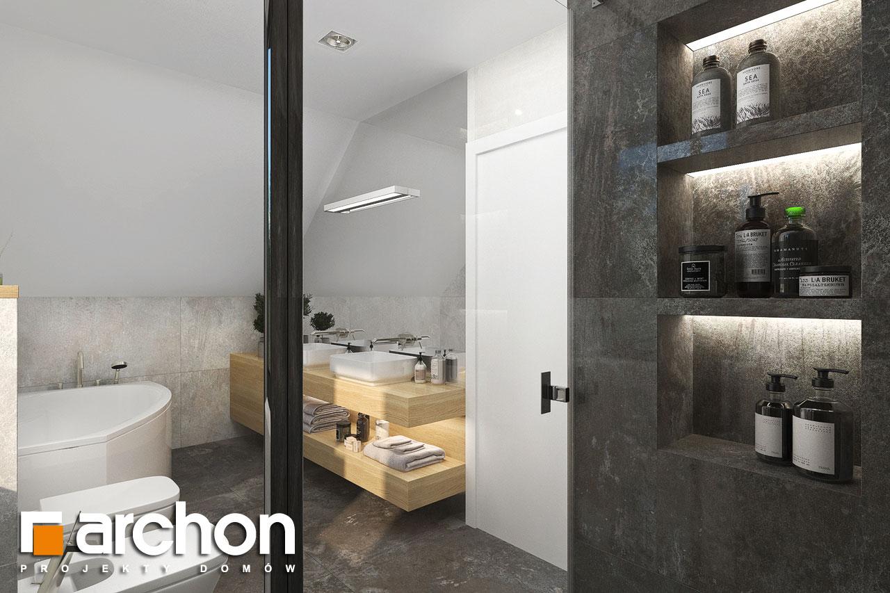 Проект будинку ARCHON+ Будинок в малинівці 14 візуалізація ванни (візуалізація 3 від 2)