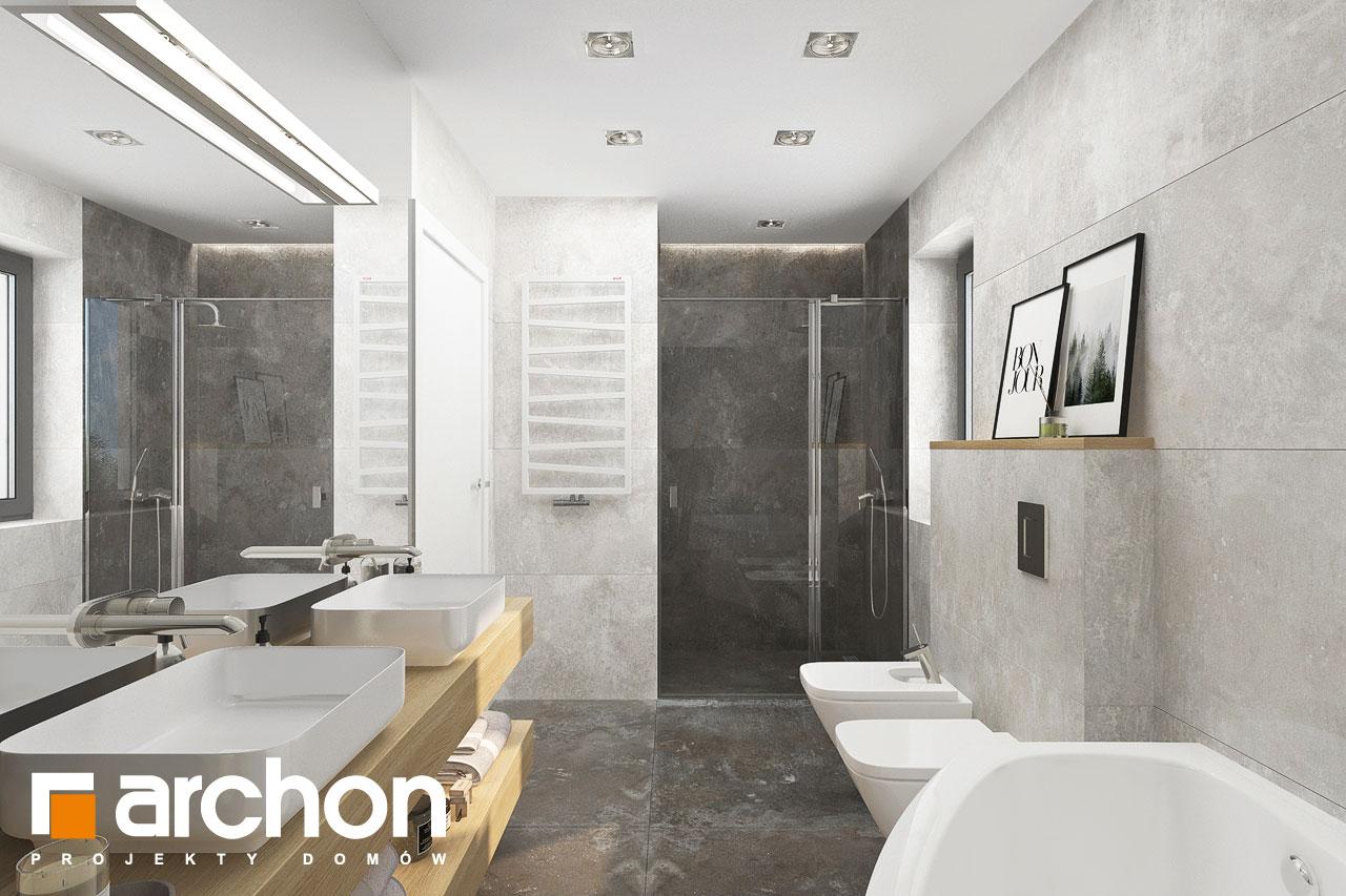 Проект будинку ARCHON+ Будинок в малинівці 14 візуалізація ванни (візуалізація 3 від 3)