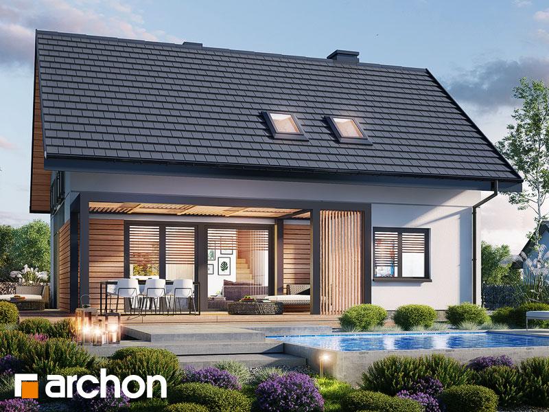 Проект будинку ARCHON+ Будинок в малинівці 14 Вид 1