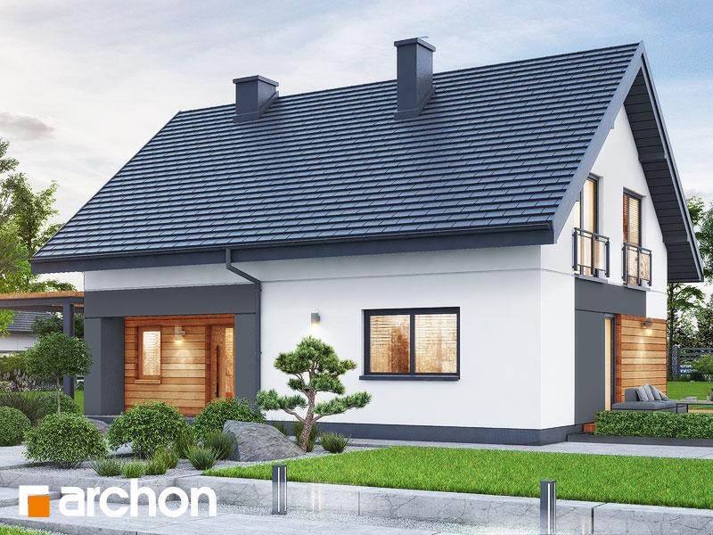 Проект будинку ARCHON+ Будинок в малинівці 14 Вид 2
