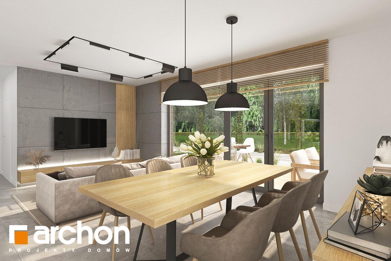 Проект будинку ARCHON+ Будинок в малинівці 14 денна зона (візуалізація 1 від 2)