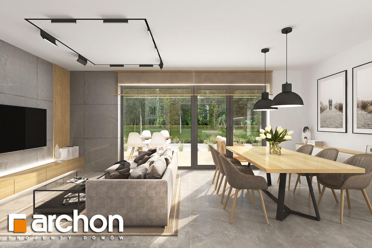 Проект будинку ARCHON+ Будинок в малинівці 14 денна зона (візуалізація 1 від 3)