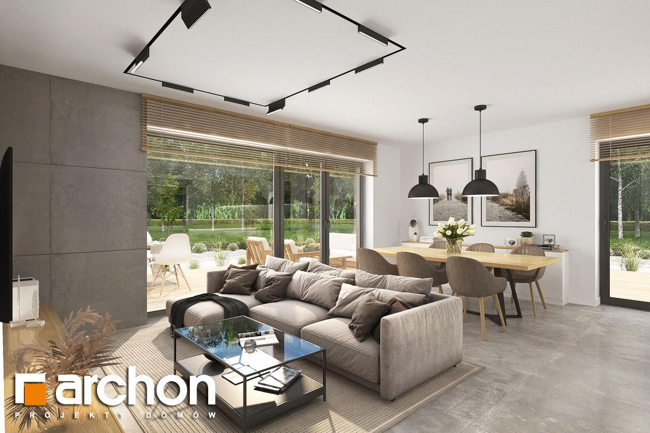 Проект будинку ARCHON+ Будинок в малинівці 14 денна зона (візуалізація 1 від 4)
