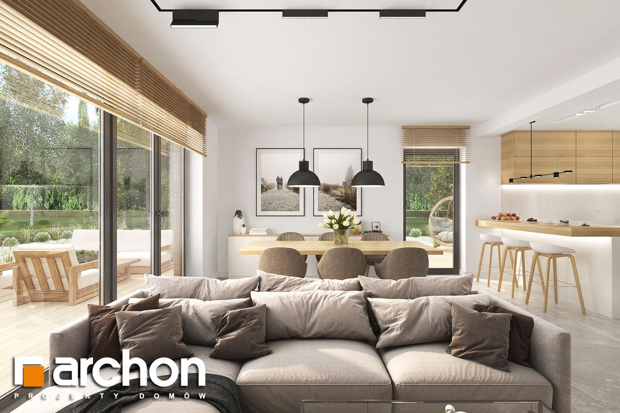 Проект будинку ARCHON+ Будинок в малинівці 14 денна зона (візуалізація 1 від 5)