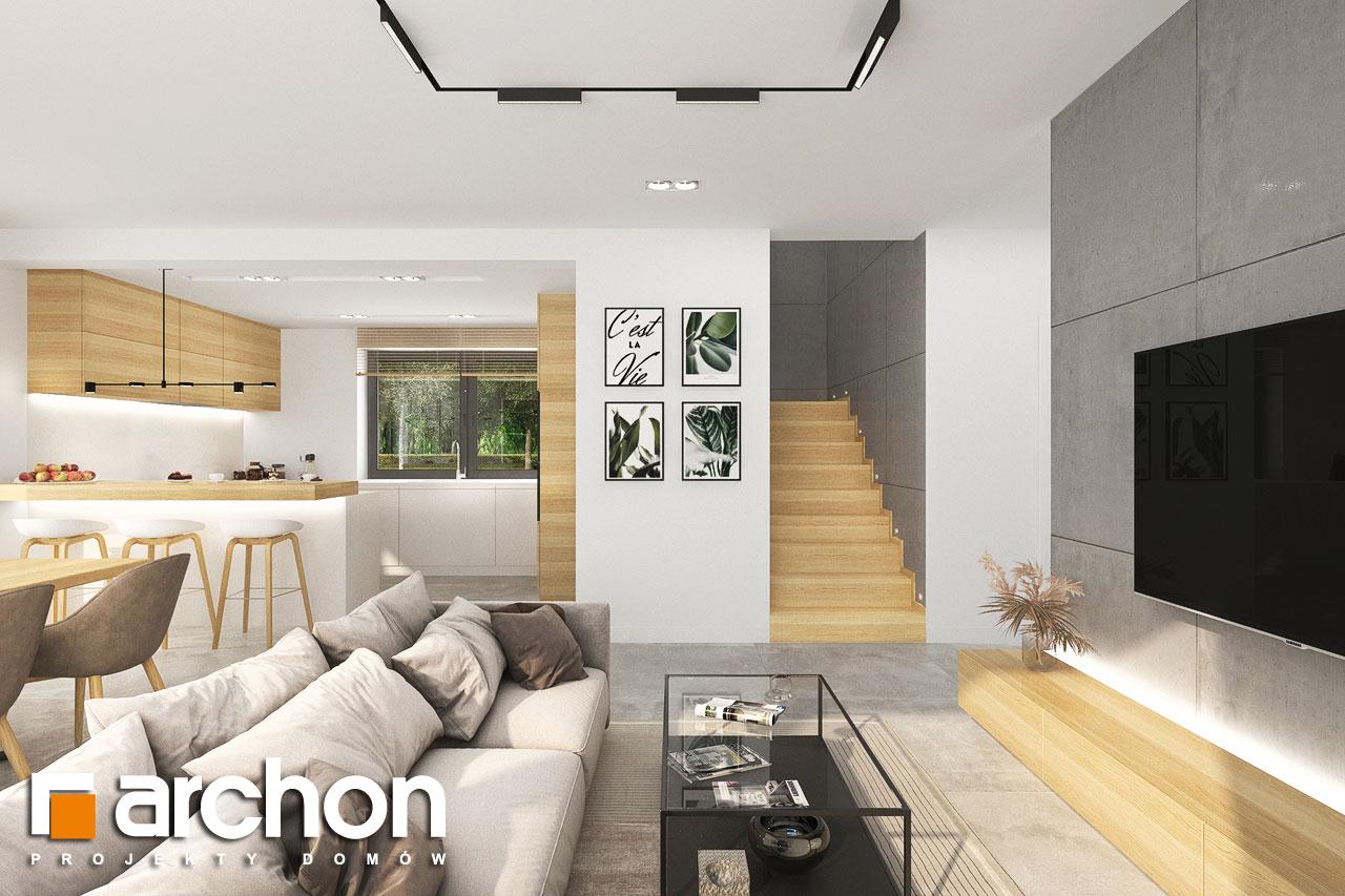 Проект будинку ARCHON+ Будинок в малинівці 14 денна зона (візуалізація 1 від 7)