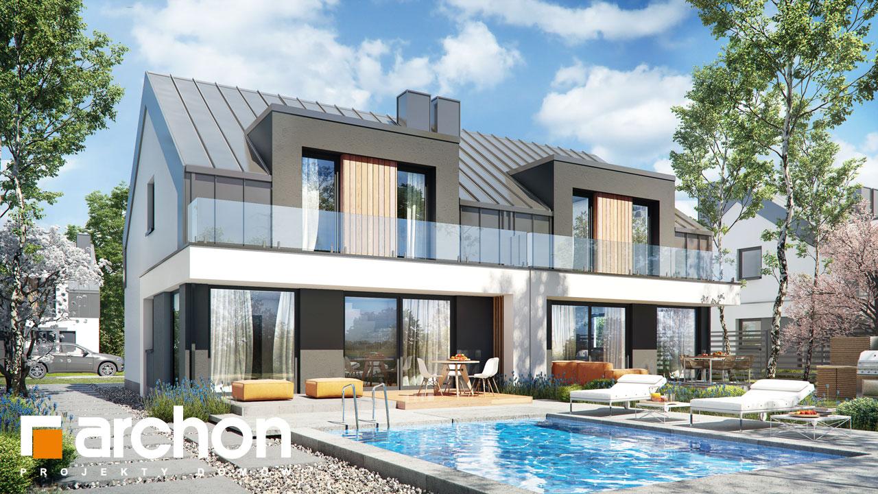 Проект будинку ARCHON+ Будинок у клематисах 27 (Б) візуалізація усіх сегментів