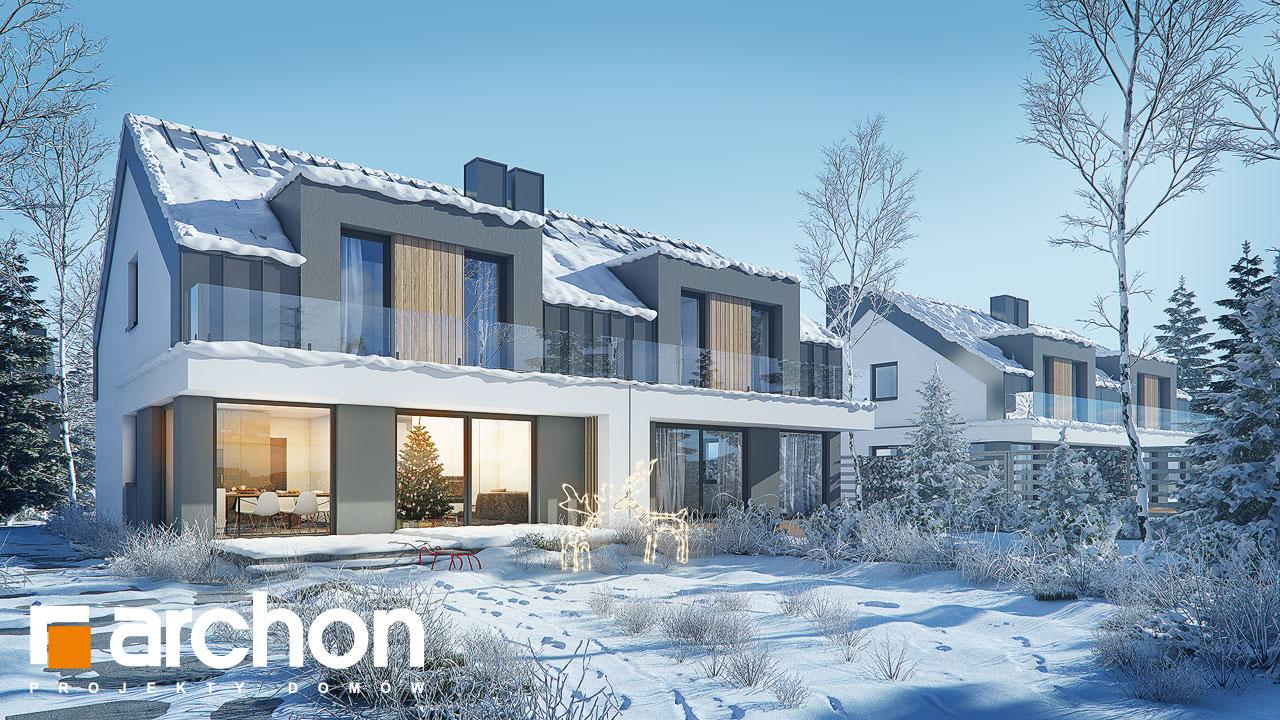 Проект будинку ARCHON+ Будинок у клематисах 27 (Б) додаткова візуалізація