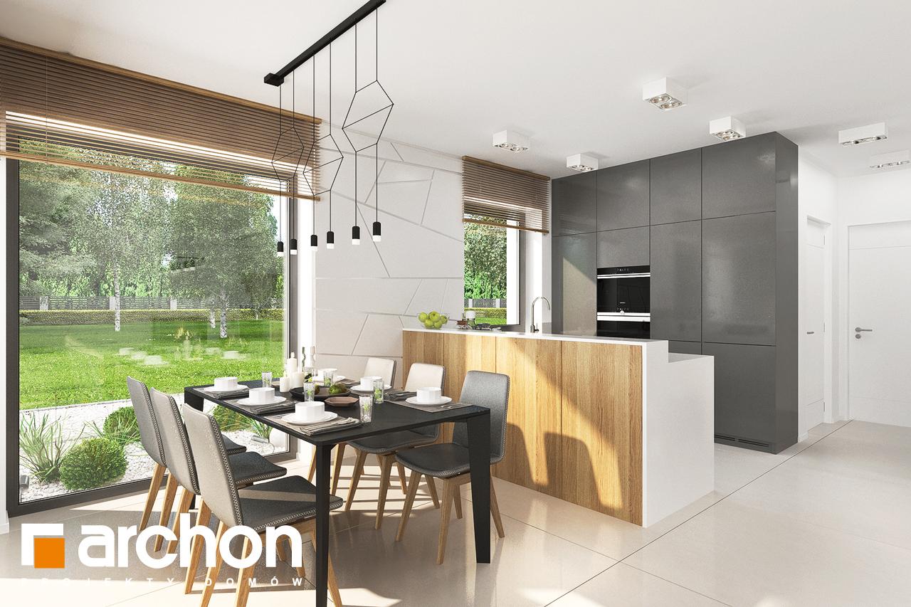 Проект дома ARCHON+ Дом в клематисах 27 (Б) визуализация кухни 1 вид 1