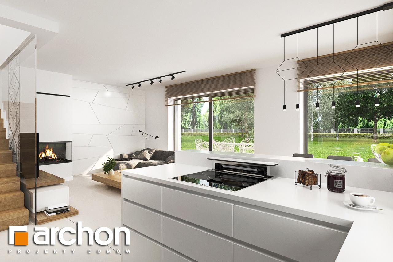 Проект дома ARCHON+ Дом в клематисах 27 (Б) визуализация кухни 1 вид 2