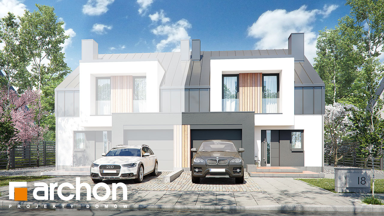 Проект дома ARCHON+ Дом в клематисах 27 (Б) Вид 2
