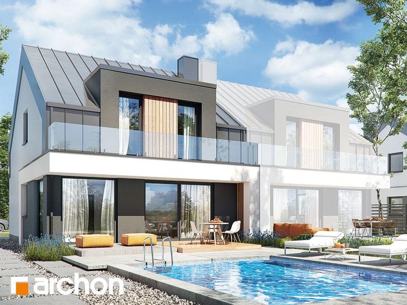 Проект дома ARCHON+ Дом в клематисах 27 (Б) Вид 1