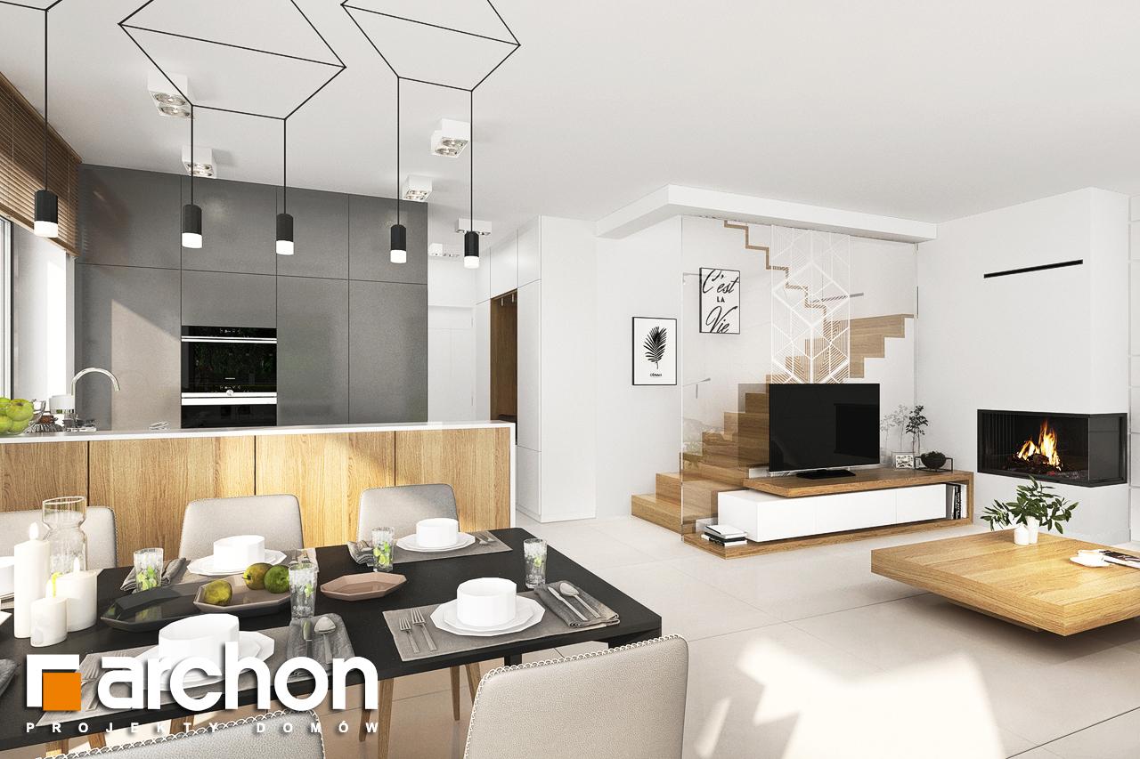 Проект будинку ARCHON+ Будинок у клематисах 27 (Б) денна зона (візуалізація 1 від 1)