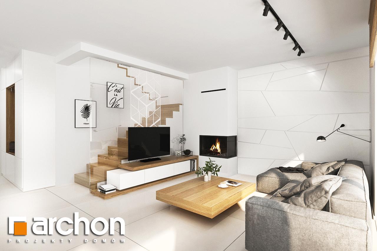 Проект будинку ARCHON+ Будинок у клематисах 27 (Б) денна зона (візуалізація 1 від 2)