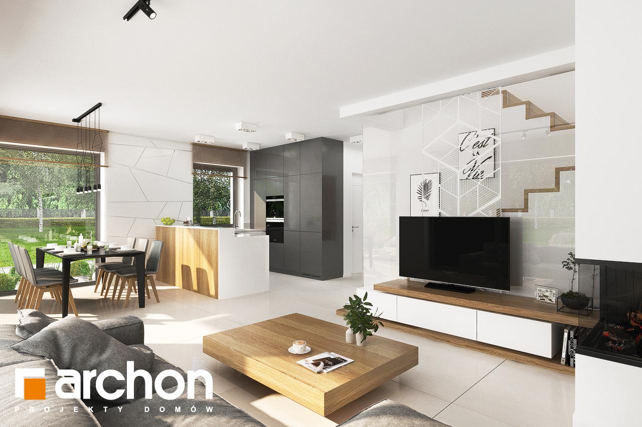 Проект будинку ARCHON+ Будинок у клематисах 27 (Б) денна зона (візуалізація 1 від 4)