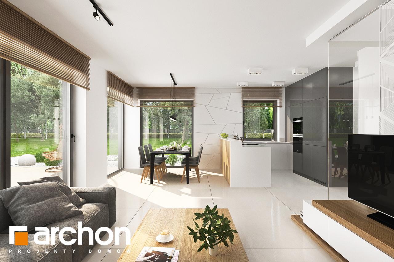Проект будинку ARCHON+ Будинок у клематисах 27 (Б) денна зона (візуалізація 1 від 5)