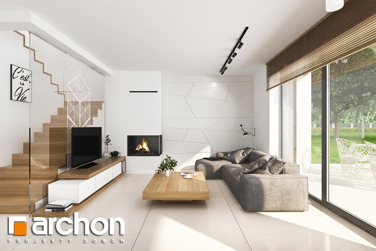 Проект будинку ARCHON+ Будинок у клематисах 27 (Б) денна зона (візуалізація 1 від 6)