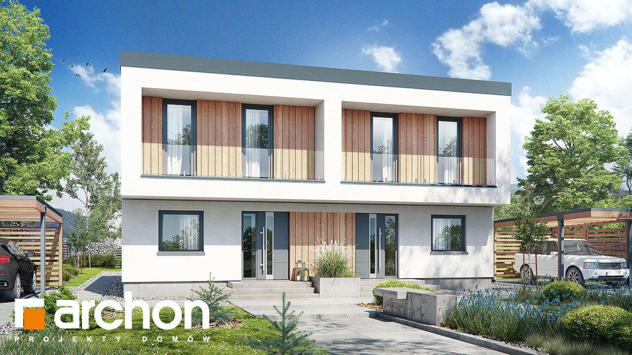 Проект будинку ARCHON+ Будинок в тунбергіях 4 (Б) візуалізація усіх сегментів