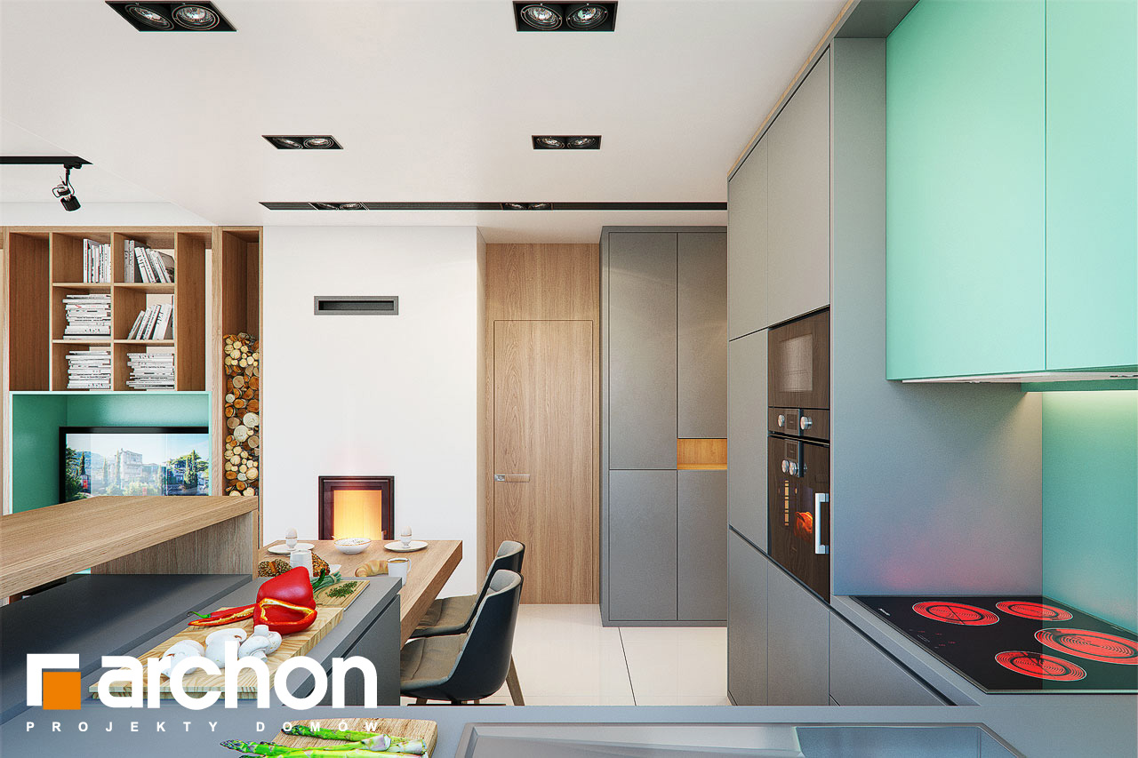 Проект будинку ARCHON+ Будинок в тунбергіях 4 (Б) візуалізація кухні 1 від 2