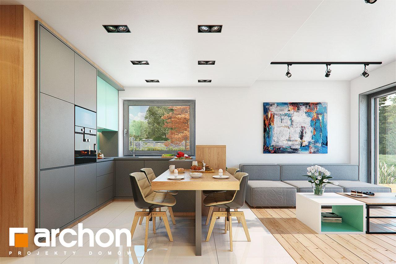 Проект дома ARCHON+ ДОМ В ТУНБЕРГИЯХ 4 (Б) визуализация кухни 1 вид 1