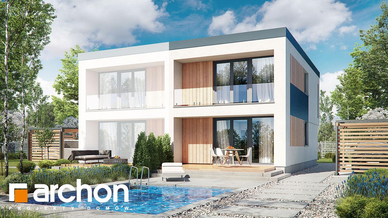 Проект будинку ARCHON+ Будинок в тунбергіях 4 (Б) Вид 2