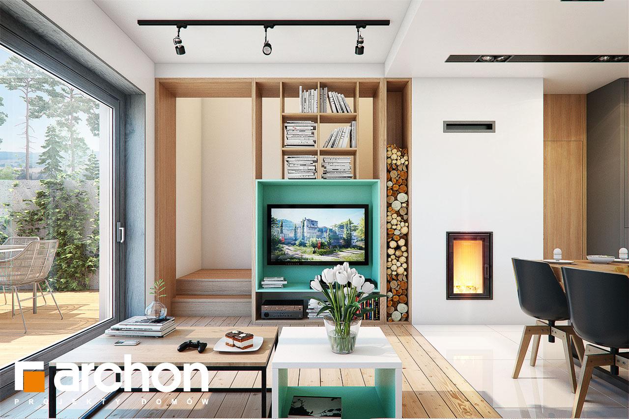 Проект будинку ARCHON+ Будинок в тунбергіях 4 (Б) денна зона (візуалізація 1 від 2)