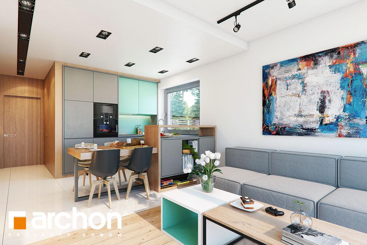 Проект будинку ARCHON+ Будинок в тунбергіях 4 (Б) денна зона (візуалізація 1 від 3)